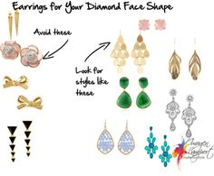 Earrings for Your Face Shape - Diamond | Inside Out Style