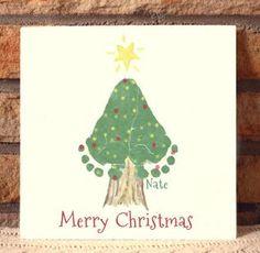Christmas Tree Footprint Plaque 302A_Plq von MyForeverPrints