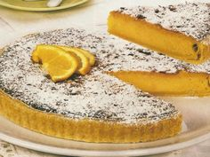 Tarte de Laranja | Sobremesas de Portugal Magic Cake Recipes, Tart Recipes, Sweet Recipes, Dessert Recipes, Cooking Recipes, Portuguese Desserts, Portuguese Recipes, Portuguese Food, Milk Tart