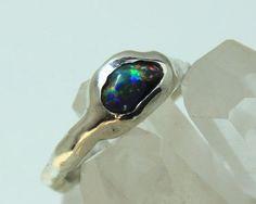Raw Opal, Rough Opal, Rainbow Opal, Gemstone Jewelry, Opal Gemstone, Black Opal, Opal Rings, Healing Stones, Sterling Silver Rings