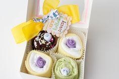 New Baby Shower Gift Set Onesie Cupcakes Boy by PinkPearTreeGifts
