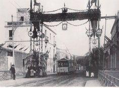 Inauguració del Tramvia d'Horta (abans de passar pel pont de la Riera)