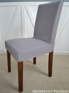 How to Sew a Parsons Chair Cover | Imperfectly Polished