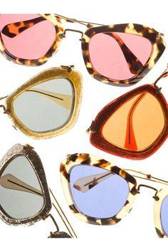 I have to have these in tortoise! miu miu catwalk sunglasses