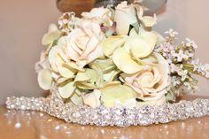 New Bridal Rhinestone Wedding Gown Sash Belt