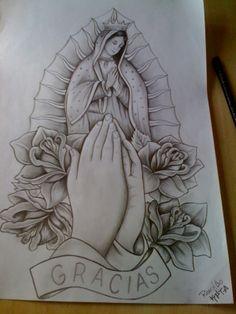 Guadalupe orai por nós!!! Tattoo Outline Drawing, Tattoo Design Drawings, Outline Drawings, Art Drawings Sketches, Tattoo Sketches, Tattoo Oma, Mary Tattoo, Tattoo Pain, Chicano Art Tattoos