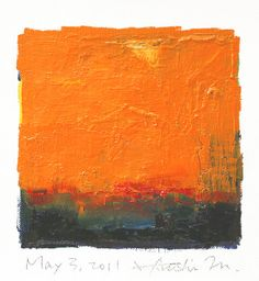 May 03, 2011 - Original Abstract Oil Painting - 9x9 painting (app. 9 cm x 9 cm) with 8 x 10 inch mat. $60.00, via Etsy.