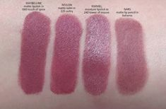 maybelline touch of spice vs revlon sultry Maybelline Matte Lipstick, Revlon Matte Balm, Mauve Lipstick, Lipstick Swatches, Lipsticks, Fall Lipstick, Touch Of Spice Lipstick, Maquillaje, Drugstore Makeup