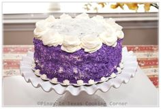 Pinay In Texas Cooking Corner: Ube Macapuno Cake for Clarise's 10th Birthday