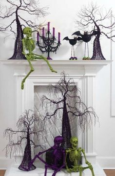 Cool Halloween Decoration for Your Fireplace