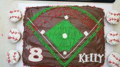 Baseball Cake & Cupcakes!