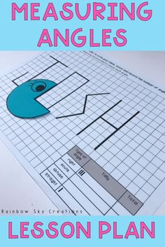Teach students how to measure angles using this engaging and personalized activity. Students identify and measure angles by investigating the number of angles found in their name. All activity sheets included have been made on grid paper to assist students in drawing straight lines {Third grade, fourth grade, Grade 4, 4th grade, homeschool} Teaching 6th Grade, Fourth Grade Math, First Grade Math, Teaching Math, 4th Grade Crafts, Grade 3, Measurement Activities, Math Enrichment, Math Measurement