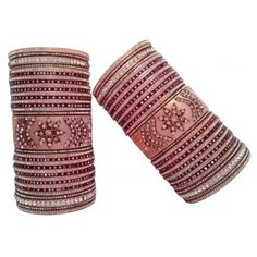 Designer Bridal Bangles, Punjabi Chura with magnificent printed design, For more designs of Indian Bridal Chura visit us at www.indianbridalhome.com