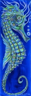 I love her work!  Neptune the Sea Horse  by artist, Erika Johnson    www.erikajohnsoncreations.com