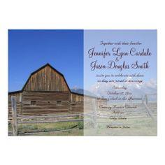 Rocky Mountain Barn Country Wedding Invitations