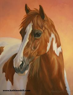 Another paint horse I did with sunset colors in the background.