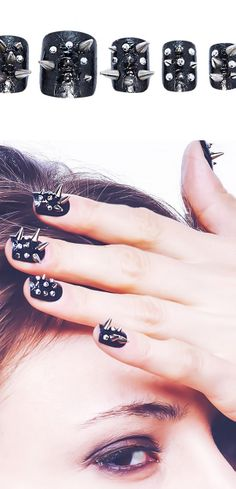 Static Nails - Spikes // Finally, awesome ready-done nails (For people like me who can't get to the salon, and can't do them myself...)