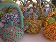 Colleen Lehmkuhl - Dotty teapots.