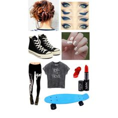 Untitled #211 by beau-4-ever on Polyvore featuring polyvore, fashion, style, Converse, NYX and Artista