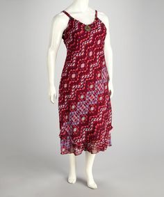 Take a look at this Fuchsia Abstract Dress - Plus by Heat Wave: Plus-Size Dresses & Tops on @zulily today!