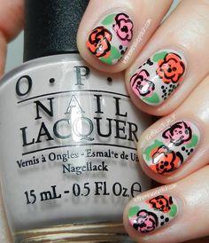 #NailArtFeb Californails Challenge Day 20: Floral