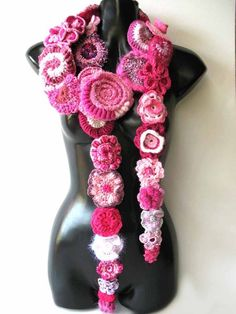 Freeform fiber art - very cool. Love this scarf, just wish I was talented enough to make it!