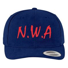 N.W.A Brushed Embroidered Cotton Twill Hat