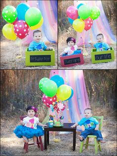 Boy girl twins smash cakes Twins Birthday Pinterest Boy girl