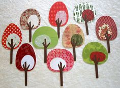 Woodland Party.  paper trees