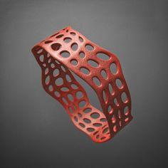 Bracciale Corallo Colorato in Alumide di Printmyjewel su Etsy #printmyjewel @printmyjewel