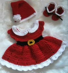 - Crochet Baby Girl Christmas Dress Set Santa Claus Dress Newborn Santa Dress Red Baby Girl Dress Baby Knit Holiday outfit Baby Santa Dress – Dla niemow… Source by - Baby Girl Christmas Dresses, Baby Girl Dresses, Christmas Baby, Baby Girls, Christmas Ideas, Crochet Christmas, Crochet Santa, Christmas Decor, Christmas Tree