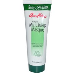 Queen Helene, The Original Mint Julep Masque is the original natural home treatment developed by a dermatologist that helps dry up acne pimples, rinse away blackheads and shrink enlarged pores. Simply apply Mint Julep Masque to your clean face and neck. Within minutes it firms and hardens, drawing out impurities from your pores. After the masque is removed, your skin will feel clean, refreshed and smooth. It is a refreshing facial treatment that helps relax tired muscles.