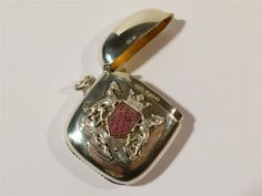 SUPERB 1916 Silver & Enamel MARQUESS BRITTANY - BRETAGNE Match Safe Vesta Case   eBay