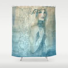 I must be a mermaid Shower Curtain from Society6