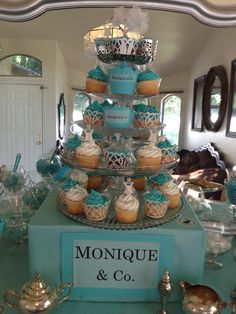 my baby sisters, day finally came this was my Tiffany themed bridal shower