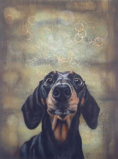 Lovely dachshund painting by Victoria Coleman