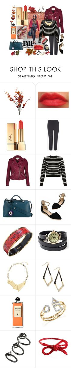 """Autumn on the Way!"" by rebeccalange ❤ liked on Polyvore featuring Yves Saint Laurent, Alexander McQueen, River Island, TIBI, Fendi, AiSun, Hermès, Steve Madden, Thalia Sodi and Serge Lutens"