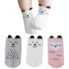 JIEEN Set of 5 Cute Knee Protector Leg Warmers for Baby Infant Toddler