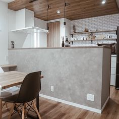 Decor, Furniture, Room, House, Interior, Wood Ceilings, Wood Wallpaper, Home Decor, Kitchen