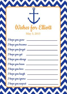 wishes for baby free printable 2