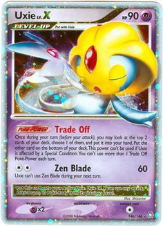 pokemon collector card | Pokemon Legends Awakened Holofoil Rare Card Uxie LV. X Level X 146/146