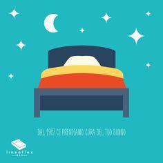 Scelta dei materiali migliori, cura dei dettagli, attenzione alle esigenze più particolari.  Dal 1987 #Lineaflex #Bed è accanto al tuo sonno!