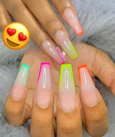 In seek out some nail designs and ideas for your nails? Here's our list of 37 must-try coffin acrylic nails for stylish women. Glow Nails, Aycrlic Nails, Swag Nails, Best Acrylic Nails, Summer Acrylic Nails, Acrylic Nail Designs, Acrylic Nail Shapes, Gorgeous Nails, Perfect Nails