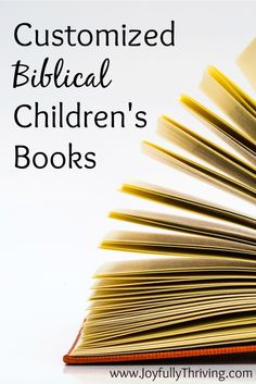 Customized Biblical Children's Books - What a great and unique gift idea! Free printables to make your own, or you can purchase one already made! Love this!