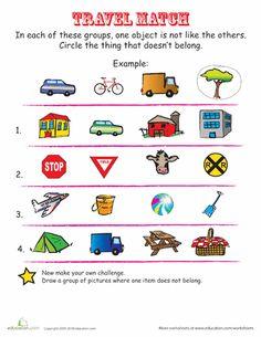 Worksheets: Modes of Transportation