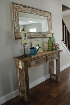 9 Glorious Cool Ideas: Wall Mirror With Shelf Frames round wall mirror entryway.Silver Wall Mirror Paint Colors wall mirror with shelf small spaces.Wall Mirror Entry Ways Bedrooms. Wall Mirrors Entryway, Small Wall Mirrors, Black Wall Mirror, Rustic Wall Mirrors, Living Room Mirrors, Mirror Shelves, Mirror Bedroom, Mirror Set, Distressed Wood Mirror