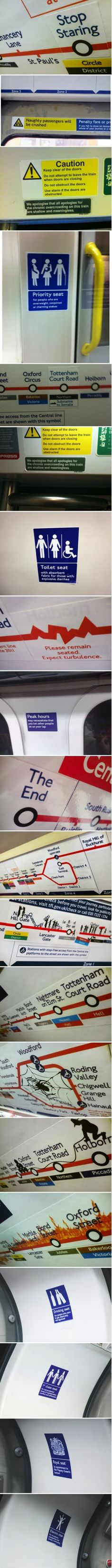 Trolling on the London Underground,