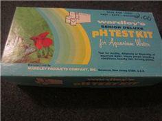 Vintage pH Test Kit aquarium water senior deluxe wardley's fast-easy-accurate NIP -SAVE FISH LIVES!