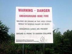 Massive Underground Coal Fire Started in 1962 Still Burns Today
