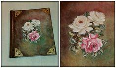 #decoupage #painting #photo_album #vintage #retro #flowers #roses #romantic #DIY #https://www.facebook.com/pages/Dimitras-Retro-Decoupage/532590893485180